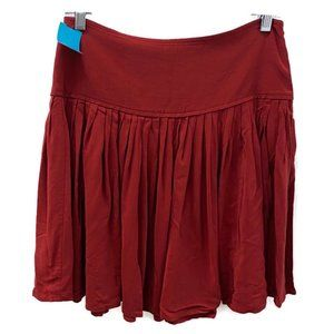 Ann Taylor Loft Red Pleated Flare Skirt